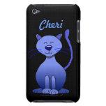 Gato sonriente azul feliz conocido de encargo iTou iPod Touch Case-Mate Carcasa