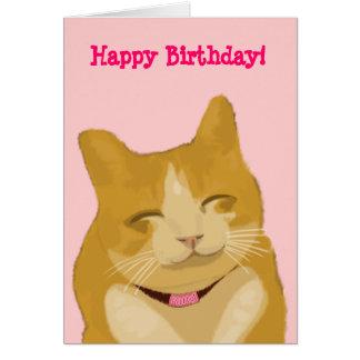 Gato sonriente del gatito tarjeta de felicitación