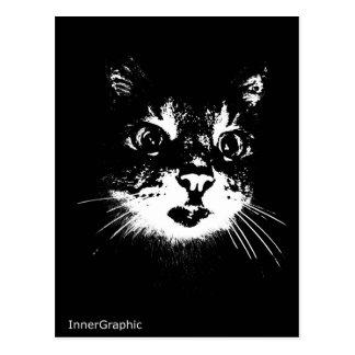 Gato sonriente postal