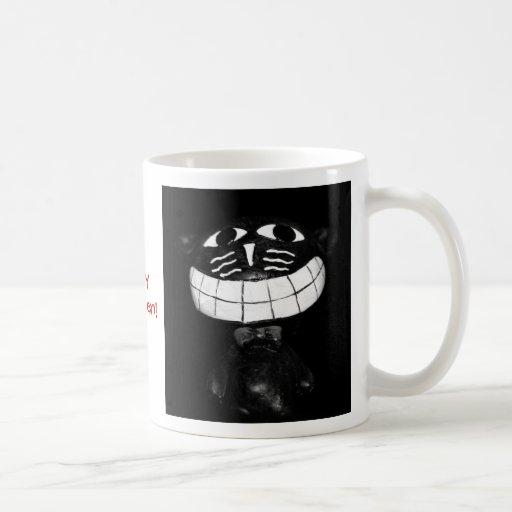 Gato sonriente taza