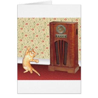 gato square jpg del baile tarjeta