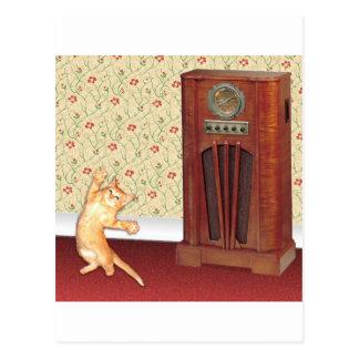 gato square jpg del baile postales