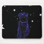 Gato Stargazing Mousepad Tapetes De Ratones