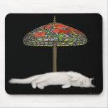 Gato Sunlamp Mousepad del vitral