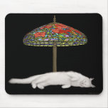 Gato Sunlamp Mousepad del vitral Tapete De Ratones