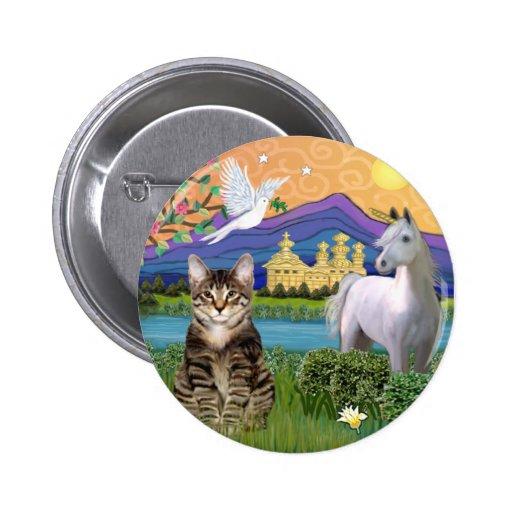 Gato - (Tabby) - tierra de la fantasía Pin