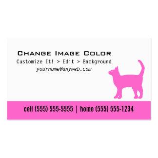 Gato - tarjeta de visita personal
