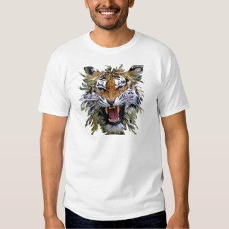 Gato temible del tigre enojado polera
