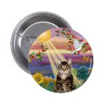 Gato (tigre) - otoño Sun Pins