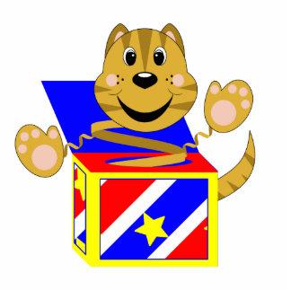 Gato Toby de Skrunchkin en caja colorida Escultura Fotografica