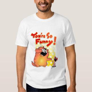 Gato tonto del dibujo animado + Ratón tonto del Camisas