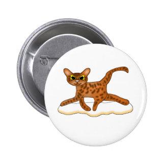 Gato-Toon Pin Redondo De 2 Pulgadas