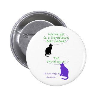 Gato-toons Pin Redondo De 2 Pulgadas