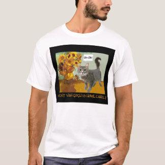 Gato travieso 3 de Van Gogh Playera