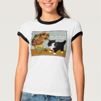 Gato travieso de Van Gogh Playera