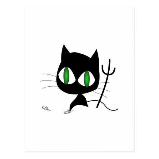Gato travieso tarjeta postal