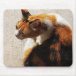 Gato tricolor Mousepad Alfombrilla De Raton