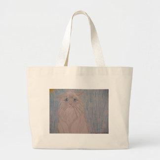 Gato triste bolsa tela grande