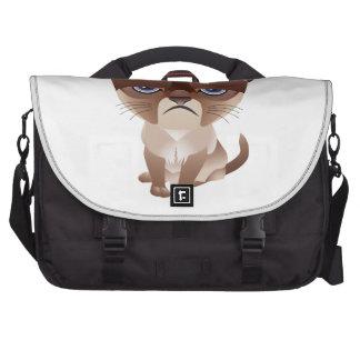 Gato triste bolsas de portátil