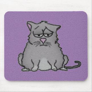 Gato triste Mousepad Alfombrilla De Ratón