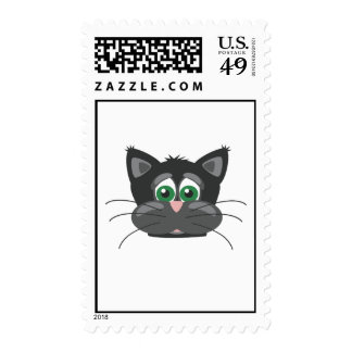 Gato triste negro sellos