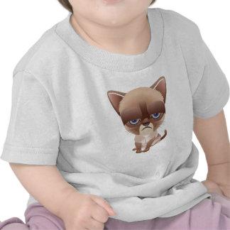Gato triste camisetas
