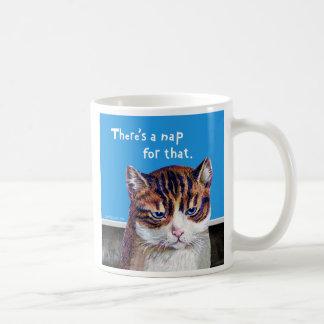 """Gato """"una siesta para ésa """" tazas"""