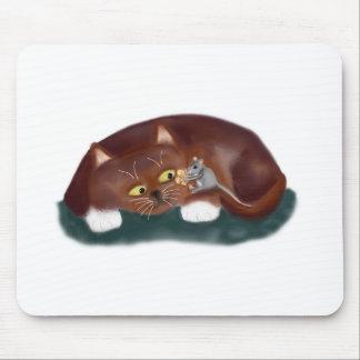 ¿Gato, usted quiere un pedazo de palomitas? Alfombrilla De Ratón