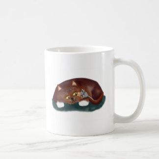 ¿Gato, usted quiere un pedazo de palomitas? Taza De Café