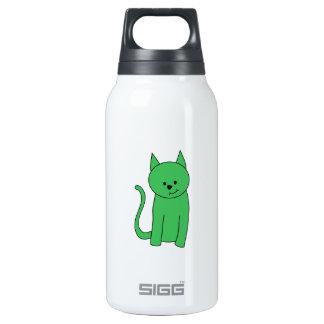 Gato verde botella isotérmica de agua