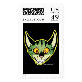 Gato verde fluorescente envio