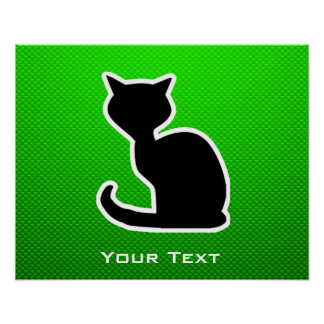 Gato verde poster