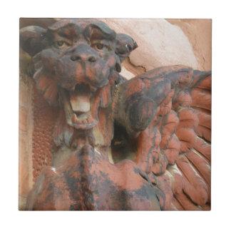 Gato viejo del mercado azulejo cuadrado pequeño