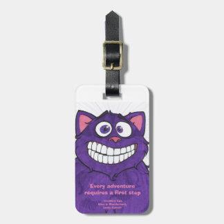 Gato w/quote, etiqueta de Cheshire del equipaje Etiqueta Para Equipaje