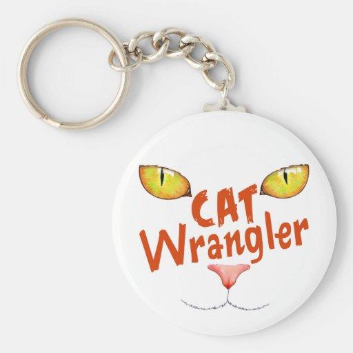 Gato Wrangler Llavero Redondo Tipo Pin