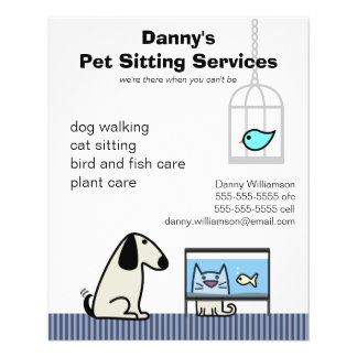 Gato y acuario del perro del canguro del mascota tarjeta publicitaria