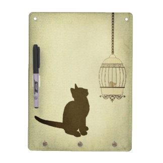Gato y Birdcage Pizarra