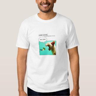 Gato y bróculi peludos del ~ de Funnies Camisas