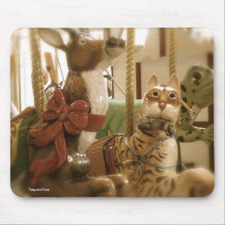Gato y burro Mousepad del carrusel