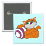 Gato y camisetas y regalos anaranjados de la bola pin