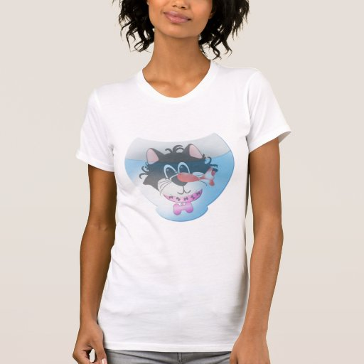 Gato y camisetas y regalos rosados de Fishbowl
