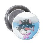 Gato y camisetas y regalos rosados de Fishbowl Pins