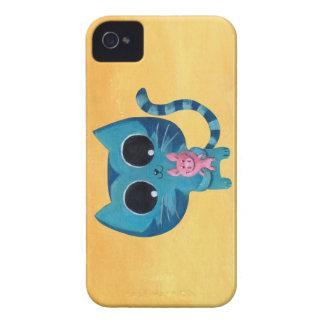 Gato y cerdo lindos del gatito Case-Mate iPhone 4 cárcasas