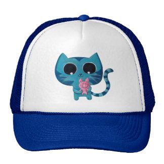 Gato y cerdo lindos del gatito gorras