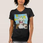 Gato y flores camiseta