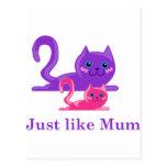 ¡Gato y gatito de la madre - lindos! Postales