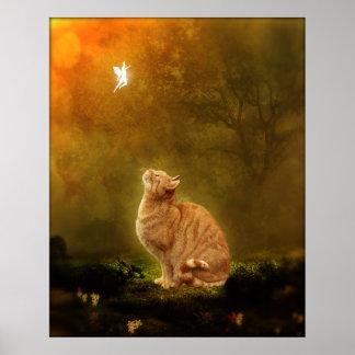 Gato y hada poster