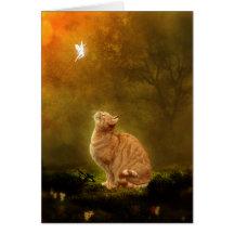 Gato y hada tarjeta