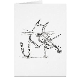 Gato y la tarjeta del violín