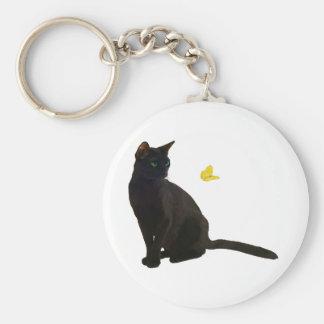 Gato y mariposa de Bombay Llavero Personalizado